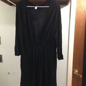 Old Navy Black Dress Low Cut Neck